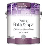 Benjamin Moore aura bath and spa matte finish