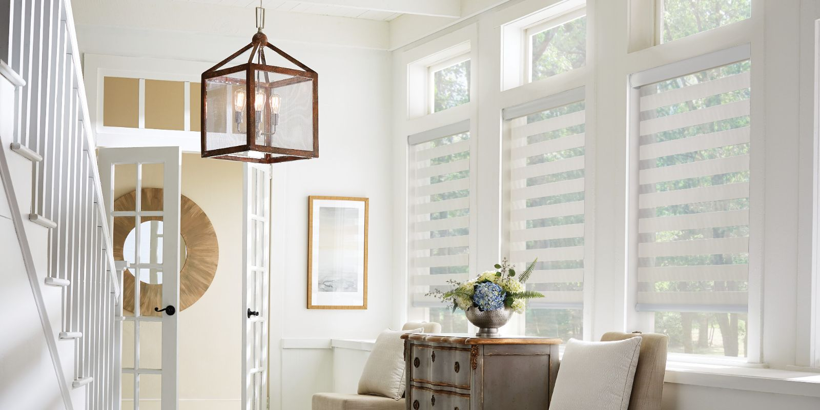 Lexington layered shades and blinds