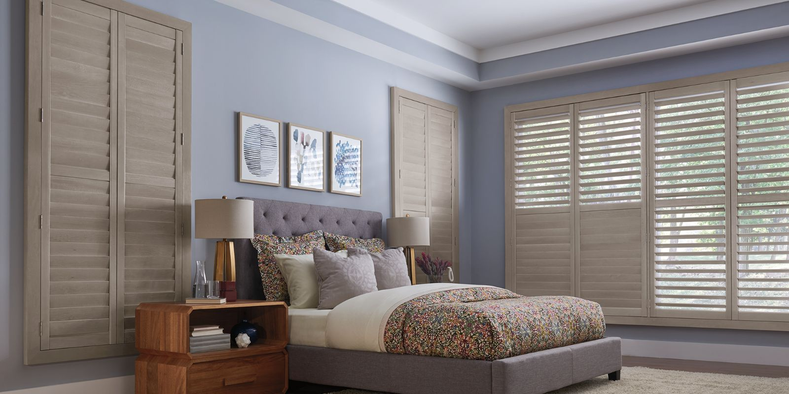 Painted Horse wood shutters